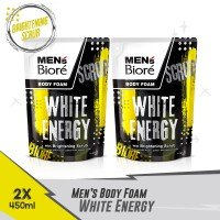 Men'S Biore Body Foam White Energy Pouch 450mL Twinpack