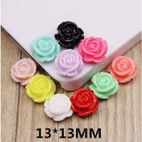 [globalbuy] DIY beautiful 50pcs Mixed Resin Rose Flower Flatback Cabochon Scrapbook Fit Ph/3012125
