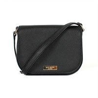 Kate Spade Laurel Way Carsen Leather Crossbody Black - DB550 Hitam