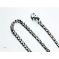 VeE Rantai Kalung Titanium 316L Stainless Steel Silver  25mm x 600mm - K14