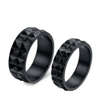 CINCIN COUPLE - BLACK METAL RING