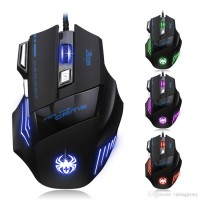 BYJ X8 Wired Gaming LED USB Optical Mouse 7 Button