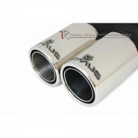 TAILPIPE REMUS TWIN ROUND TAIL (TK MC-3010-DTR)