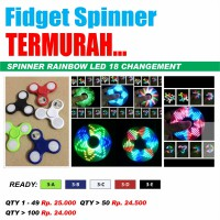 Fidget Spinner 18 Changement LED Toy hand spiner Lamp Lampu Disco