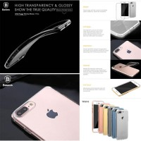 iPhone 7 Plus (With Pluggy) Baseus Simple TPU Case Casing Cover