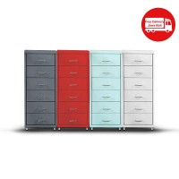 LEMARI IRON 6 DRAWERS ( 4 VARIAN WARNA )