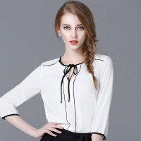 Jfashion Korean Style Blouse Kombinasi Tali - Selena