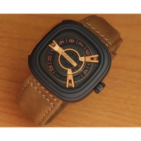 Jam Tangan Pria SF-M2/01-A1 Light Brown Leather Premium