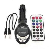 New High Quality Fashion Black Car MP3 Player FM Transmitter USB Pen Drive For iPod For memory cards