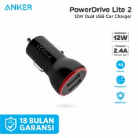 Car Charger Anker PowerDrive 2 Lite 12W 2-Port Black - A2308