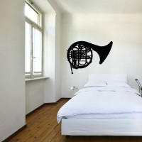 [globalbuy] Hot Sale Trombone Musical Instrument Wall Stickers Bedroom Removable Vinyl Mus/2660232