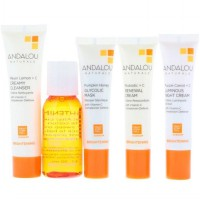 Andalou Naturals Brightening Skin Care Travel Gift Trial Set Size