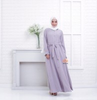 Premium Dress Nissa Busui Friendly Matterial Mosscrepe by Orlin Hijab Official