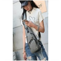Tas Sling Bag USB Cross Body Pack Selempang Tahan Air - AT333