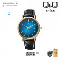 Q&Q QnQ QQ Original Jam Tangan Pria Casual Analog Leather - QZ06 QZ06J Water Resist