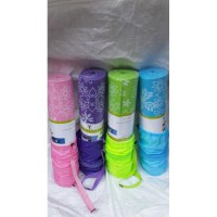 Matras yoga motif bunga / cantik 8mm