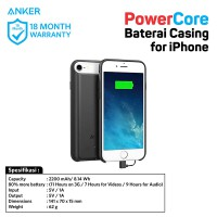 PowerBank Anker PowerCore IPhone Battery Case A1409 Black/Hitam