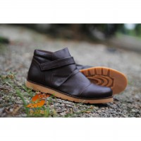D-Island Shoes Comfort Boots Slip On Leather Dark Brown