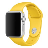 Apple Watch 42mm Silver Aluminum Case Smartwatch with Sport Band - Yellow