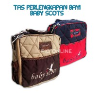 Scots Embroidery Small Simple Bag / Baby Travelling Mini Bag / Tas botol susu dan perlengkapan Bayi