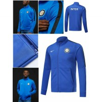 NEW JAKET BOLA INTER MILAN BLUE OFFICIAL 17/18 GRADE ORI Murah
