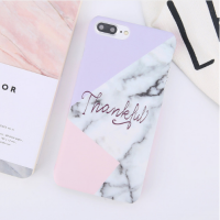 Hard Case Casing HP IPhone 6 6s 7 7s 8 Plus Marble Gold Pink Purple Gray Marmer Stone Pattern Elegant Cool Chic Thin Ultrathin Fashion High Class Emas