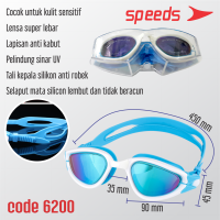 KACAMATA RENANG SWIMMING GOGGLES ORIGINAL SPEEDS 6200 BERKUALITAS