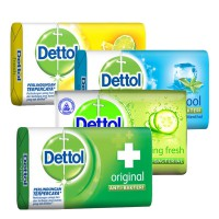 (5X105 GR) DETTOL BAR SOAP SUPER HEMAT (ORIGINAL/LONG FRESH/FRESH/COOL)