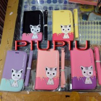 Case Wallet / Dompet HP Leather Case Domi Cat Samsung J1, Prime, Grand 1 / Neo / Duos, Ace 4 / V