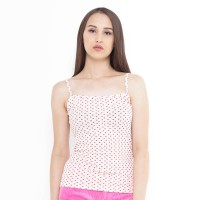 Mobile Power Ladies Basic Love Printing Tanktop - Pink L6810