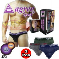 K479 | Celana Dalam Pria | Cd Pria Agree | Exclusive Men's Brief | [Per Box Isi 3 Pcs]