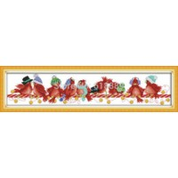 [globalbuy] Christmas Birds (2) Patterns Counted Cross Stitch Handmade 11CT 14CT DIY DMC C/1053566