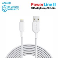 Kabel Charger PowerLine DURA II 10ft Lightning A8434 White