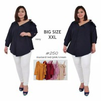 BAJU BIGSIZE MURAH - BLOUSE LESS SHOULDER JUMBO (A250)
