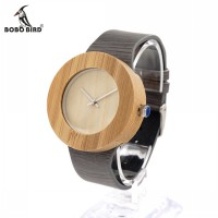 BOBO BIRD H10 Mens Luxury Wooden Quartz Watches With Leather Strap