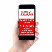 Paket Data Internet TELKOMSEL FLASH Up To 11,5 GB 30hari BACA DESKRIPSI!!