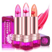 (1+1) FLOWER JELLY LIPSTICK Real Flower infused - Chrysanthemum Scent Sheer Color Changing(KB-43)