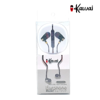 Ikawai Handsfree Earphone music with Mic & Vol - Garansi 1 Tahun - Hitam