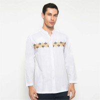 BRITANIA Long Sleeve Henley Embroidered Shirt 6019