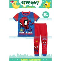PAJAMAS ANAK  BLUE AND RED MOTIF SPIDERMAN   (8-13TH) (RSBY-3963)