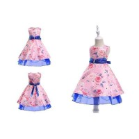 Dress Pesta Anak Cantik Pink Biru