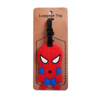 LUGGAGE TAG CHARACTER SPIDERMAN FIGURE