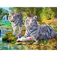 [globalbuy] tiger picture of rhinestones needlework 3d diy diamond painting cross stitch c/566567