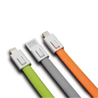 MICROPACK KEYCHAIN USB CABLE 20CM USB TO LIGHTNING GREEN/GRAY/ORANGE (MC-13.GRN.GRY.ORG)