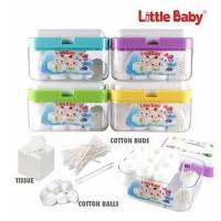 Little Baby Cotton buds box 3 in 1 Tempat kapas bayi multifungsi