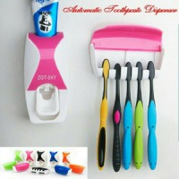 Dispenser Odol dan Sikat Gigi ( toothpaste dispenser & brush set )