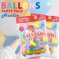 [Fun & Smart] MAINAN ANAK BALLOONS DECORATION PARTY PACK HAOLIN 100pcs BALON TIUP PESTA HAO LIN