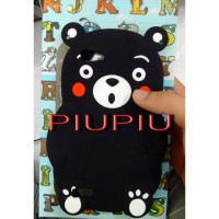 Case Silicone Rubber 3D Kumamon Iphone 5,6,7 Plus, Xiaomi Redmi 3 Pro, Note 3, Oppo Neo 7