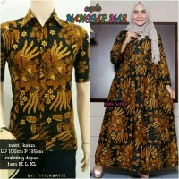 Couple Gamis Batik Sogan