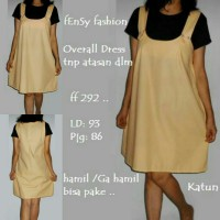 Overall tunik dress katun - ff292